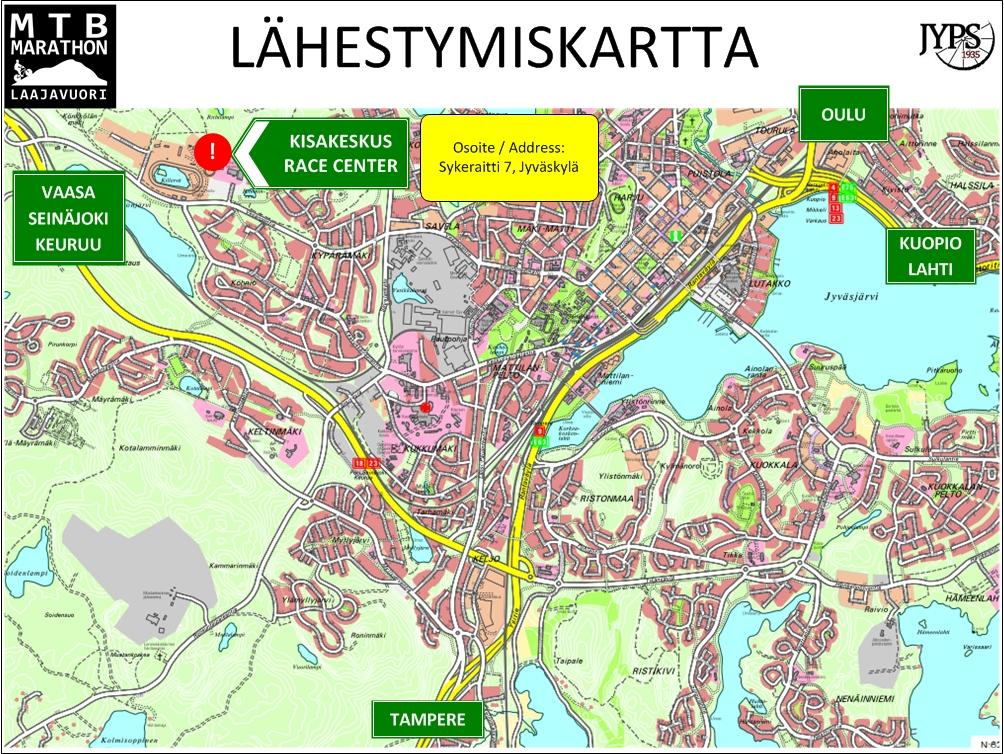 Jyväskylä kartta