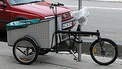 Lastipyörä kuvattuna Kööpenhaminassa.