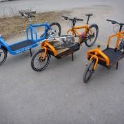 Keski-Suomen kolme ensimmäistä Bullittia juuri saapuneina 2011.