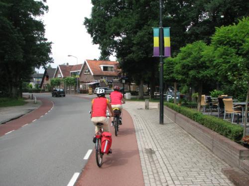 Pyöräkaistoja Hollannissa.